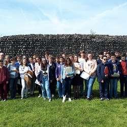 Visite du site gallo-romain de Jublains par les quatrièmes latinistes