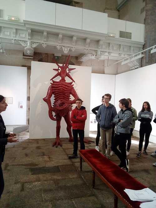 Visite d''une exposition d''art contemporain en seconde - option arts plastiques - 0