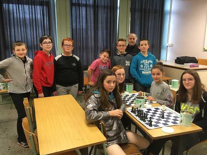 """Atelier """"jeu d''échecs"""" au collège 0"""