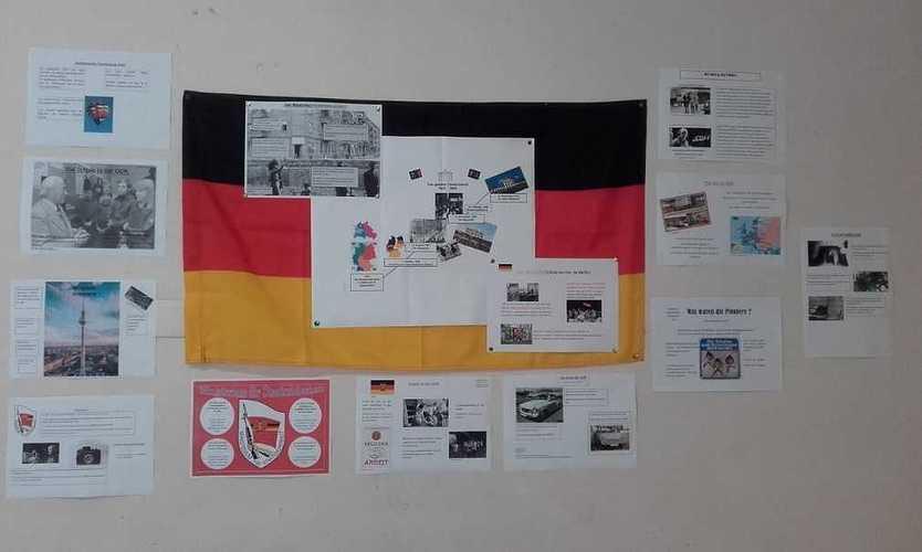 Trentenaire de la chute du mur de Berlin drapeau