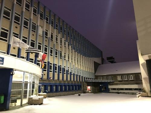 Saint-Pierre sous la neige
